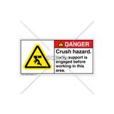 Danger/Crush Hazard Label (H5008-TTDHPK)