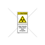 Caution/High Intensity X-Ray Label (H6005-J19CVPK)
