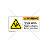 Warning/Pinch Point Label (H1099-58WHPK)