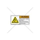 Warning/Worn Doctor Blades Label (H1288-C98WH4K)