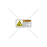 Warning/Entanglement Hazard Label (H1010-482WHPL)