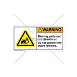 Warning/Moving Parts Label (H1012-3EWHPL)