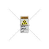 Warning/Crush Hazard Label (H1017-PCWVTL)