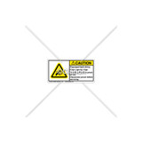 Caution/Exposed Belt Drive Label (H1052-D29CHPL)