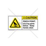 Caution/Pinch Point Label (H1110-JRCHPL)