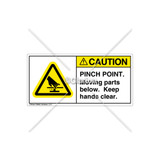 Caution/Pinch Point Label (H1110-JRCHPL)