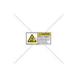 Caution/Heavy Object Label (H5158-J54CHPL)