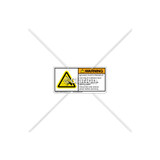 Warning/Moving Parts Label (H5161-L27WHPL)