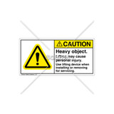 Caution/Heavy Object Label (H6014-3ACHPL)