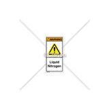 Warning/Liquid Nitrogen Label (H6014-301WVPL)