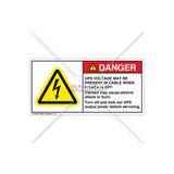 Danger/UPS Voltage Label (H6010-L23DHPL)