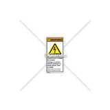 Warning/Hazardous Voltage Enclosed Label (H6010-429WVPL)