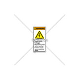 Warning/Hazardous Voltage Label (H6010-208WVPL)
