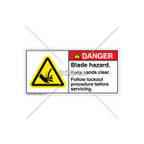 Danger/Blade Hazard Label (H1039-17DHPL)