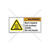 Warning/Burn Hazard Label (H6043-BPWHPL)