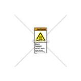 Warning/Burn Hazard Label (H6043-MXWVPL)