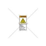 Warning/Burn Hazard Label (H6043-MXWVPL)