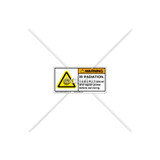 Warning/IR Radiation Label (H6122-VSWHPL)