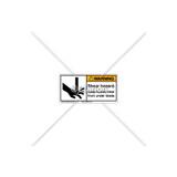 Warning/Shear Hazard Label (1001-CVWHBL Wht)