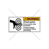 Warning/Pinch Point Label (1018-82WHPL Wht)