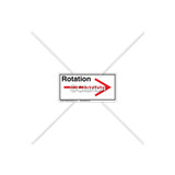 Straight Arrow/Right Rotation Label (7804-03HPL)