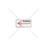 Straight Arrow/Left Rotation Label (7804-04HPL)