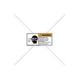 Warning/Ultraviolet Radiation Label (3025-VKWHPL)