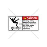 Danger/Climbing, Sitting, WalkingLabel (5016-V9DHPL Wht)