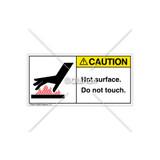 Caution/Hot Surface Label (1024-22CHPL Wht)