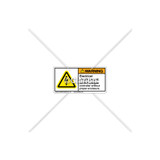 Warning/Electrical Shock Hazard Label (C6941-10)
