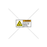 Warning/Protect Eyes Label (C7588-03)