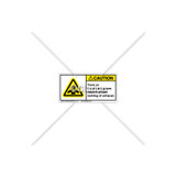 Caution/Toxic or Flammable Label (C8245-01)
