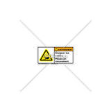 Warning/Keep Hands Clear Label (C6847-01)