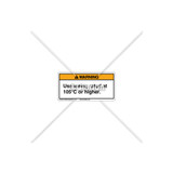 Warning/Use Wiring Rated Label (C6331-02)