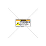 Warning/Risk to Cooled Label (C322-11)