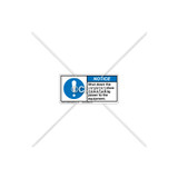 Notice/Shut Down Label (C20237-09)