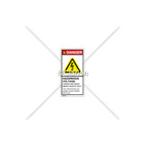 Danger/Hazardous Voltage Label (C22970-01)