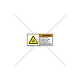 Warning/UV Radiation Label (C22971-02)