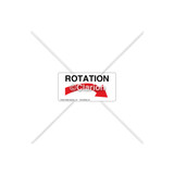 Rotation Arrow Label (8519-01HPL)