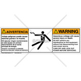 Warning/Hazardous Voltage Label (BSM-5025-742WHBS)