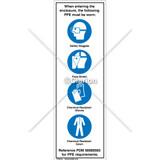 Multi Symbol Hazard  Label (90320717 Rev AB)