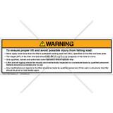 Warning/Never Apply Label (PSL 2A)