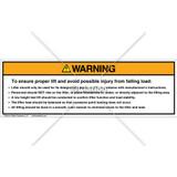 Warning/Lifter Should Label (PSL 2B)