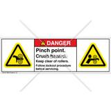 Danger/Pinch Point Label (H1018/4004-CRDHPS)
