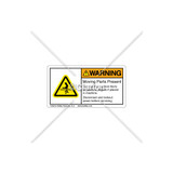 Warning/Moving Parts Present Label (MH02S298)