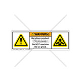 Warning/Beryllium Products Label (H6014/4006-487WHPT)