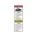 Danger/PTO Entanglement Label (8300-02DVBT)