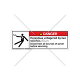Danger/Hazardous Voltage Label (5025-L0DHPT)