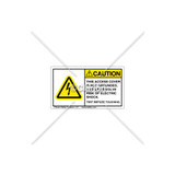 Caution/Access Cover Not Grounded Label (C5758-19)