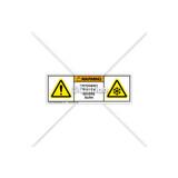 Warning/Cryogenic Hazard Label (8594-02WHPU)